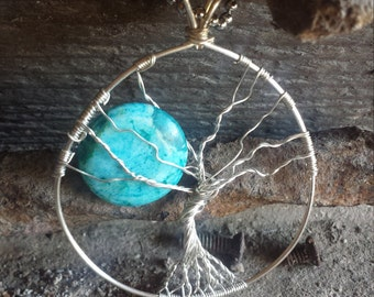 Full Moon in the Tree of Life Pendant