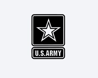 Military Logo US Army Vinyl Decal #MB01936, Phone Decal, Laptop Decal, Tablet Decal, Car Decal, Yeti Decal, Personalized