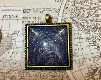 Acrylic Painted Pendant Starry Sky