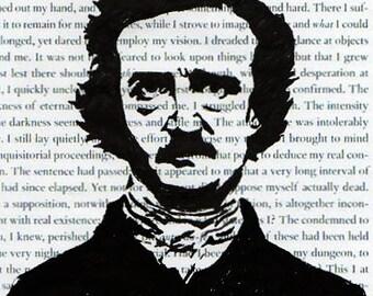 Edgar Allan Poe Hand Sketched Digital 6x4 Postcard