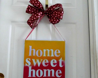 Home Sweet Home Sign, Wall hanging, Wall décor, Home wall décor, Room décor, Home décor, Home and Living, Home decoration, House decoration