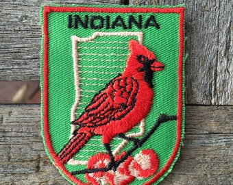 LAST ONE! Indiana Vintage Souvenir Travel Patch from Voyager
