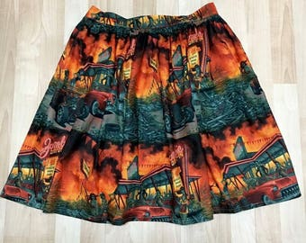 Zombie Pinup Skirt with Pockets