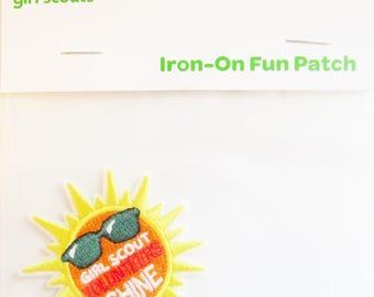 "Girl Scout Fun Patch ""Girl Scout Volunteers Shine"""