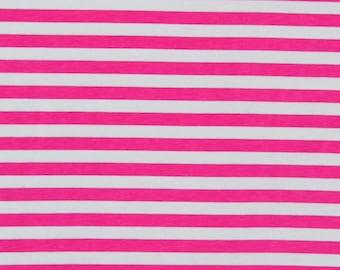 "Pink princess stripes 1/2"" 1 yard"