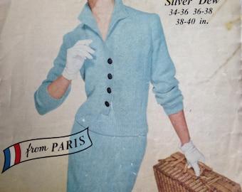 Vintage 1950s Lola Prusac Suit Knitting Pattern