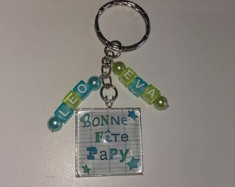 personalized Grandpa keychain