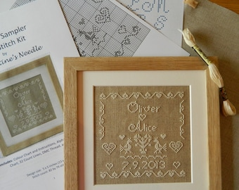 Personalised Wedding Sampler Cross Stitch Kit