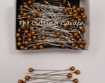 """Corsage / Boutonniere Pearl Gold Pins 2"""" pk/144"""