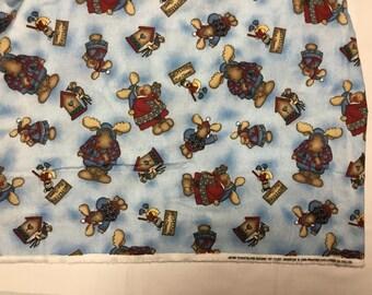 Daisy Kingdom Flannel Moose fabric BTY
