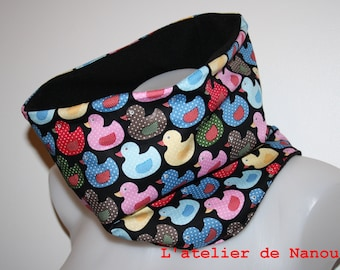 snood - adult reversible tube scarf / mixed teen