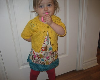 Girl Cotton Sweater, Toddler Summer Sweater, Child Yellow Sweater, Sweater Size 4, Baby Sweater Size 2, Blue Baby Sweater, Child Red Sweater