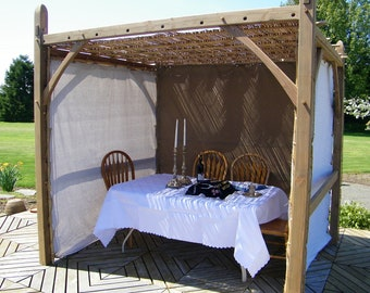 Sukkah/Chuppah Basic.  Traditionally crafted from sustainable raw materials using traditional joinery, Kosher