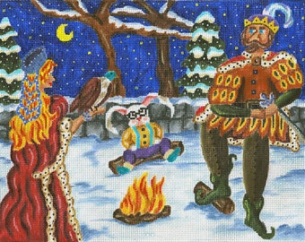 Needlepoint Fairy Tale Canvas - Falcon for the King - SALE