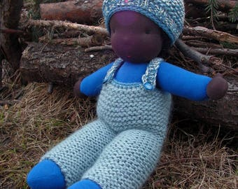 Leroy, large, soft, supple black cuddle doll, organic cotton waldorf doll, large african steiner doll, waldorf ethnic baby boy, toddler doll