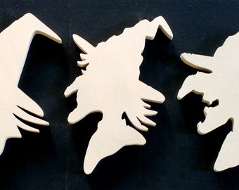 Wooden Witch Silhouettes