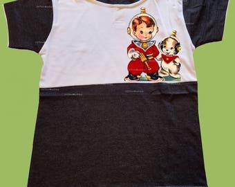 Back to school shirt, First day of school, Boys School Shirt,Kindergarten shirt,Spaceman & dog, Boys graphic shirt, Birthday Boy