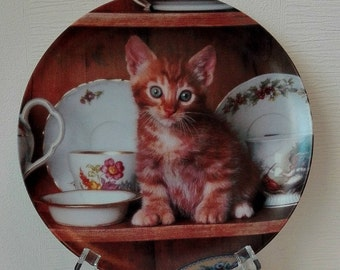 """Collection plate CRESTLEY COLLECTION """"Teatime Tabby"""""""
