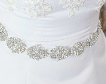 Swarovski Sash - Crystal Belt - Bridal Belt - Bridal Sash - Swarovski Belt - Wedding Belt - Wedding Sash - Crystal Sash - Victoria