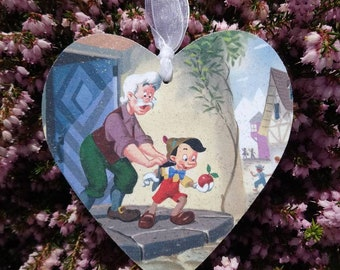 Disney inspired Pinocchio heart plaque