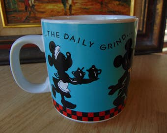 Mickey Mouse and Minnie Mouse Mug  / Mickey Mouse Daily Grind  Mug