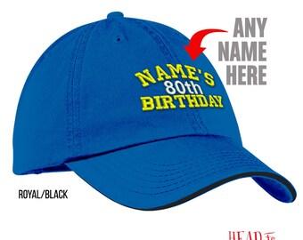 80th Birthday, 1937 Birthday, 80th Birthday Gift, Embroidered Cap, 80th Birthday Idea, 80 Birthday Present, Custom Gift, 80 Birthday Gift!