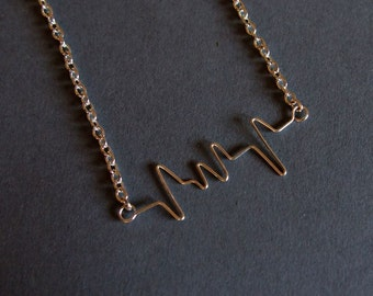 Heartbeat necklace personalized