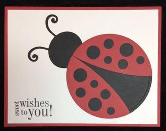 Sweet Wishes To You Ladybug Greeting Card