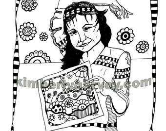 Jade Coloring Page - PDF Digital File