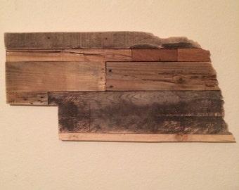 Nebraska State Sign | Reclaimed Wood | Pallet Sign | Home Decor | Wall Art | Rustic Decor | Barn wood |