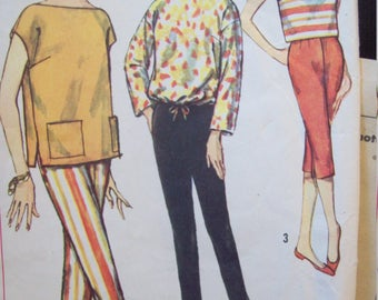 Simple to Make Vintage Pants and Overblouse Simplicity Pattern 2814 Size 14