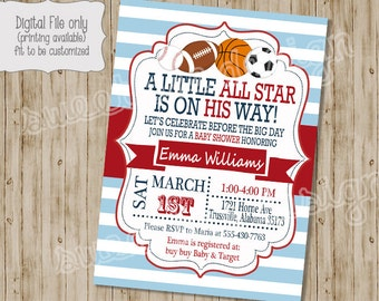 All star baby shower etsy quick view more colors baby shower invitation filmwisefo