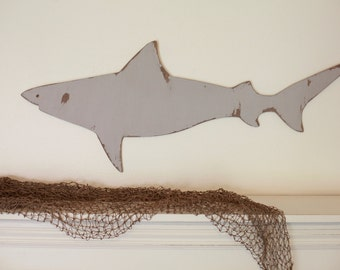 Shark Wood Cutout, Scroll Cut Shark, Shark Wood Sign Decor, Wall Decor Ocean Nautical Theme Shark, Boys Room Decor Wall Hanging