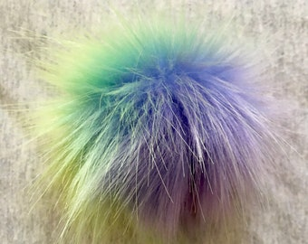 Feelin' the rainbow faux fur pom pom