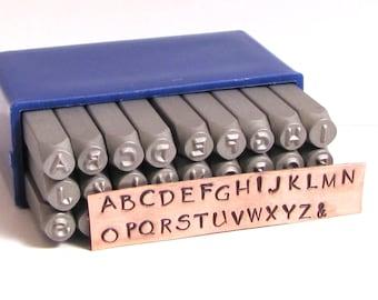 3 mm HandPrint font stamps upper cases Steel letter stamps