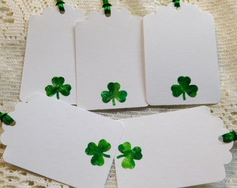Shamrock Gift Tags, Clover Gift Tags, Irish Gift Tags, Celtic Wedding Gift Tags, Irish Wedding Gift Tags, St. Patrick's Day Gift Tags