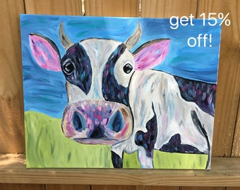 Cow Painting- Handmade