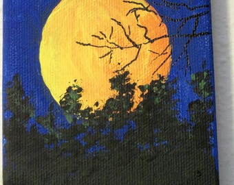Small Original Acrylic paintings on canvas with wood easel, Pick the One you Want 1620a