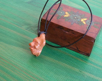Necklace Earth ceramic masks and jewelry