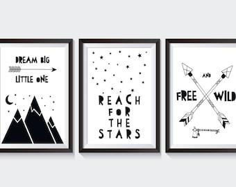 3 affiche les images STARS des enfants