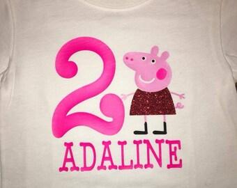 PEPPA PIG birthday t shirt custom