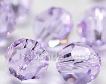 24 pcs Swarovski Elements - Swarovski Crystal Beads 5000 4mm Round Ball Beads - VIOLET