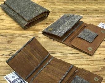 Sale!!! Handmade Women's leather wallet, Woman cards wallet, Women's wallet, leather woman wallets, Vintage leather wallet in brown and grey