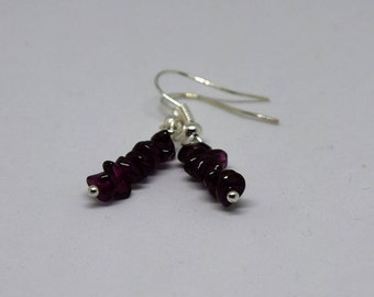 Red Garnet Earrings