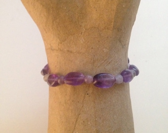 Lilac Quartz Amethyst Courage & Self-Esteem Healing Stack Stretch Bracelet•Healing Crystal Jewelry•Positive Energy•Heart Chakra•Yoga Jewelry