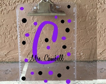Custom Clipboard, Personalized Clipboard, Teacher Clipboard, Teacher Gift, Teacher Appreciation Gift, Personalized Christmas Gift