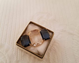Avon Diamond Sapphire Stones Pin