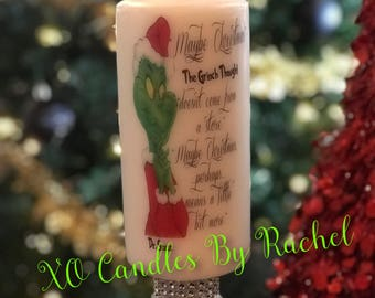 Grinch Candle