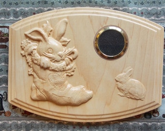 Wood Carving For Sale, Nursery Wall Picture Frame ~ Wood Picture Frame ~ Baby Shower Gift ~ Nursery Wall Decor ~
