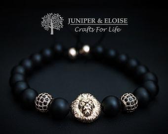 Lion Bracelet Mens Bracelet, Womens Jewelry,Gift Ideas, Silver Lion head , Bracelet Gift, Mothers Day Gift
